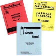 International Farmall M MV Tractor Service Operator Owners Parts 3 Manual Set