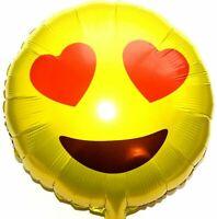Helium Folienballon Herz Augen Emoji Hochzeit Deko Geburtstag Geschenk NEU
