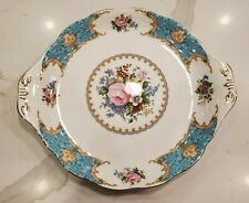 ROYAL ALBERT LADY Gay Chintz Cake Plate wGreen Edge