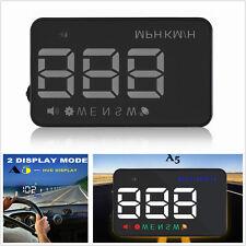 "A5 3.5"" GPS HUD Car Head Up Display Speedometers Projector Overspeed Warning Kit"