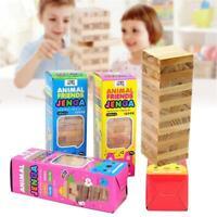 48Stück Holz Turm Bausteine Spielzeug Domino Bildungs Jenga Spiel Box Spielzeug