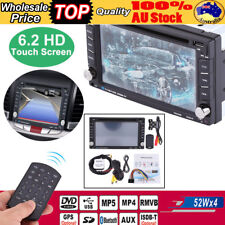 "Double 2Din 6.2"" HD Car Stereo Head Unit Radio DVD Player GPS Bluetooth Touch"