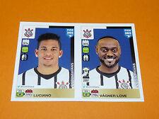 189 190 LUCIANO VAGNER LOVE CORINTHIANS FOOTBALL FIFA 365 PANINI 2015-2016