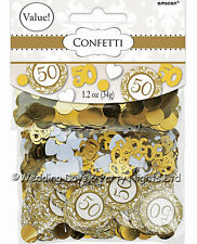 Triple Pack 50th Golden Wedding Anniversary Table Confetti Party Decorations