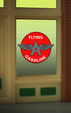 "Flying A Gasoline Neon Window Sign -Can Be Trimmed As Small As O.9"" W X 0 .85"" T"