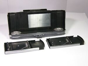 Zeiss Ikon 543/13: Plate Back adapter for Contax II & III with 3x plate holders