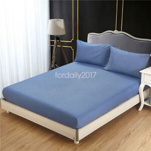 Comfortable Mattress Slipcover Protector Stretch Bed Room Fitted Sheet Cover