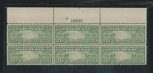 1926-27 20 Cent C-9 Airmail Stamps Plate Block 6 F-VF MNH