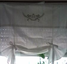 Monogram Raff Blind Curtain White Shabby Chic Curtain Country House