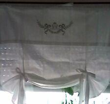 monograma RAFF Persiana Cortina Blanco Shabby Chic Cortina Casa De Campo