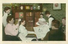 The Favorite Newspaper Philadelphia Record Postcard Family Reading Paper #10