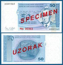 BOSNIEN H. / BOSNIA H. 50 Pfeniga (1998) Specimen UNC  P. 57 s