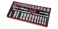 "33 Piece ⅜ "" Drive Socket Set with Ratchet , Accessories & Case 3/8"" drive"