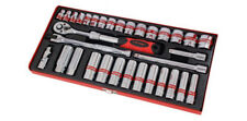 "33 Piece ⅜ "" Drive Socket Set with Ratchet , Accessories & Case"