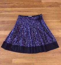 Portmans Floral A-line Full Midi Skirt Black Blue Gray 10