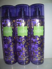 Lot of 3 Bath & Body Works Fragrance Mist 8 oz. each LONDON TULIPS & RASPBERRY