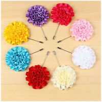 1PC Lapel Collar Pin Corsage Flower Brooch Pin Boutonniere Mens Suit Accessories