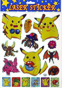A4 Bogen Manga-Sticker mit 16 verschiedenen Stickern L060