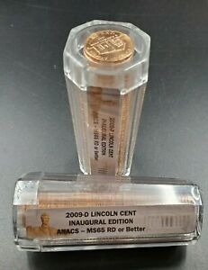 2009 P & D Lincoln COMMEMORATIVE 2 Roll SET INAUGURAL ANACS MS65 Red or Better