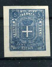 1863 Saggi Saggio Prova originale Regno Sparre cent. 5