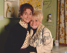 June Brown & Barbara Windsor Hand Signed 8x10 Photo Autograph, Eastenders
