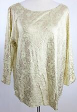 NWT! Chico's Vintage Lace 'Maggie' Top ¾ Pale Soft Lime Size 3 XL 16