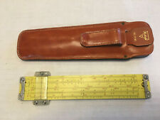 Pickett N600-ES Log Log Duplex Speed Slide Rule & Leather Case