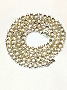 6 mm Round Tennis Chain Mounts Necklace Blank Semi Mount Tennis Chain Setting