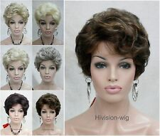 6 Colour Short Curly Fluffy Women Ladies Daily Hair wig Hivision #5250