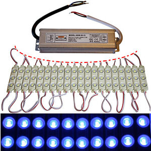 LED Module+Supply - Blue - Advertising - 12V - 3x 5730 SMD Chip Injection Lamp