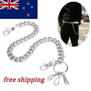 Silver Hip hop Biker Metal Trucker Waist Chain Keychain Jean Wallet Punk Style
