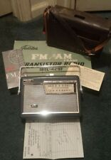 1963 Toshiba AM/FM Transistor 10 Radio W box & paperwork Model 18TL-429F