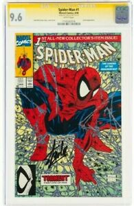 STAN LEE Signed 1990 SPIDER-MAN #1 SS Marvel Comics CGC Graded 9.6 NM+ WHITE Pgs