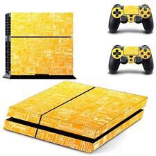 Etiqueta amarilla la piel del vinilo para Sony PS4 PlayStation 4 y 2
