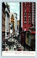 New York City, NY - PRE 1908 BROAD STREET SCENE & CURB BROKERS - POSTCARD