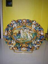 plat en céramique faïence Italie Majolique  naples ?  18eme 18th siècle