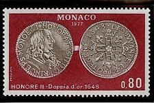 "MONACO #1088 MNH VF OG ""Honore II"" Doubloon Coins 0,80 Fr 1977"