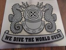 "U.S MILITARY NAVY DEEP SEA DIVER WINDOW DECAL STICKER 5.25"" X 4.25"" INCHES"