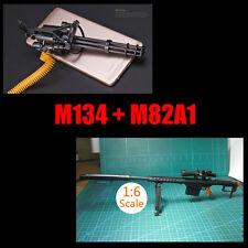 """1:6 1/6 Scale Assemble Gun Weapon M134+M82A1 Fit 12"""" Action Figures"""
