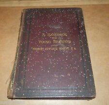 Rare beer book 1877 A Handbook for Young Brewers by Herbert Edwards Wright B.A.