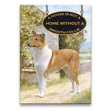 Smooth Collie a House Is Not A Home Fridge Magnet No 1