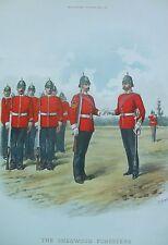 Imprimer la Sherwood Foresters Derbyshire Regiment 45th & 95th pied militaire