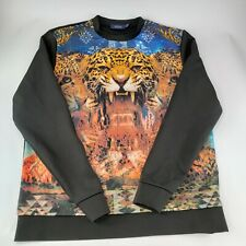 Topman Men's Long Sleeve Shirt Tiger Graphic 3D Detailed Retro Size Large
