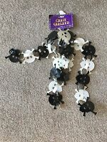 Halloween Black and White Skull Chain Garland 6' Long Great Halloween Party Dec