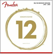Fender 80/20 Bronze Guitare Acoustique cordes 12-52 Calibre 70l