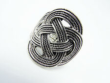 New Silver Tone Knotted Look Stretch Ring #R1119