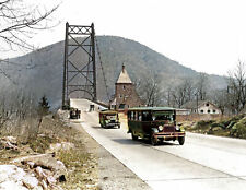 "1928 Bear Mountain Toll Bridge, NY Old Photo 8.5"" x 11"" Reprint Colorized"