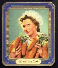 Lucie Englisch 1937 Garbaty Passion Film Favorites Embossed Cigarette Card #176