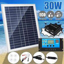 0/5/20/25W Solar Panel Dual USB+0A Solar Charger Controller Camping