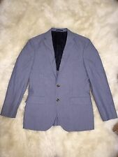 J.CREW $358 CROSBY SUIT JACKET ITALIAN COTTON OXFORD CLOTH 38R RUSTIC BLUE C4868